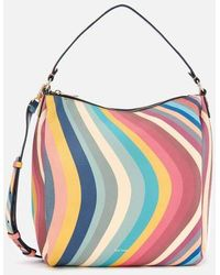 Paul Smith Spring Swirl Leather Hobo Bag - Multicolour