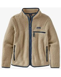 Patagonia Girls' Retro Pile Jacket — El Cap Khaki - Natural