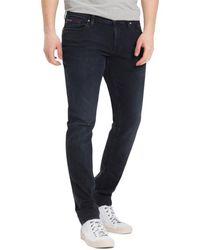 Tommy Hilfiger Tommy Jeans Scanton Slim Jeans Cobble Black Comfort - Bleu