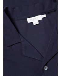 d8dfe4d13cdd3 Sunspel White Cotton Relaxed-collar Mesh Shirt in White for Men - Lyst