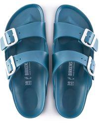 Birkenstock Sandale étroite Arizona turquoise EVA - Bleu
