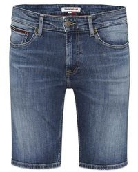Tommy Hilfiger Tommy Jeans Scanton Slim Denim Shorts Hampton Mid Blue Stretch - Bleu