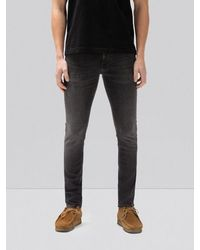 Nudie Jeans Delave Black Organic Cotton Skinny Jeans Tight Terry Black Treats