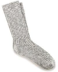 Birkenstock Slub Gray Socks