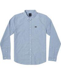 RVCA Camisa Thatll Do Stretch LS Oxford Azul