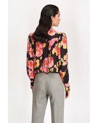 Essentiel Antwerp Vileda Black Floral Print Shirt - Multicolour