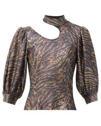 Ganni Top Lurex Estampado Tigre - Multicolor