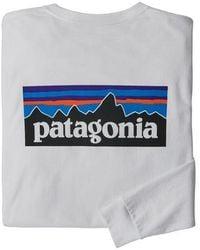 Patagonia Ms L S P 6 Logo Responsibili Tee White - Grey