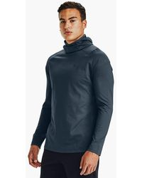 Under Armour Rush Cold Gear 2 0 Hoodie Mechanic Blue Reflective