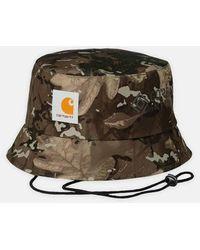 Carhartt Script Bucket Hat Camo Combi - Multicolore
