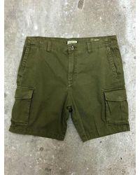 SELECTED Shorts cargo de arcilla - Verde
