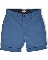Tommy Hilfiger Tommy Jeans Essential Chino Shorts Audacious Blue - Bleu