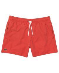 Lacoste Shorts de baño de secado rápido Mh 6270 Crater Red - Rojo