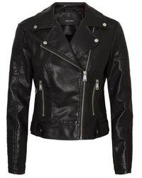 Vero Moda Https://www.trouva.com/it/products/vero-moda-coated-black-jacket - Nero
