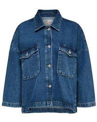 SELECTED Oversize Denim Jacket - Blue
