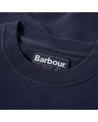 Barbour Navy Cotton Mol0101ny91 Prep Logo Crew Mens Sweatshirt - Blue