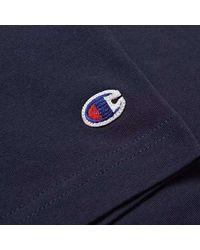 Champion T-shirt con logo C sul petto intrecciato blu scuro