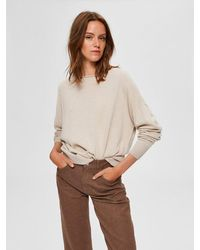 SELECTED Cashmere Sweater - Natural