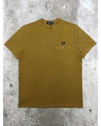 Fred Perry Camiseta de piqué con detalle de bolsillo - Verde