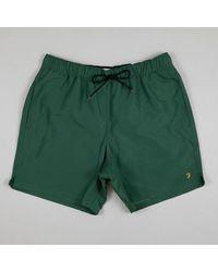 Farah Colbert Swim Shorts In Cedar Green
