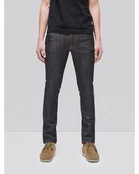 Nudie Jeans Raw Cotton Jean Slim Lean Dean Dry Tonal Ecru - Multicolour