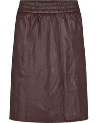 Second Female Brown Melvin Leather Port Royale Skirt