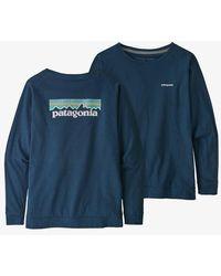Patagonia - Camiseta Ws L S Pastel P 6 Logo Responsibili Creater Blue - Lyst