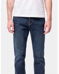 Nudie Jeans Steady Eddie II Jeans classici scuri - Blu