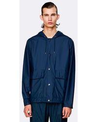 Rains Short Hooded Coat - Azul