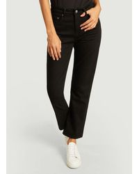 Nudie Jeans Jeans Sally dritti - Nero