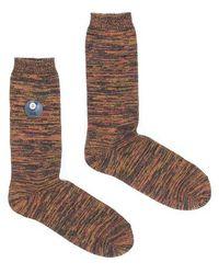 Folk October Melange Socks - Brown
