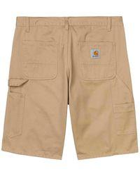 Carhartt Ruck Single Knee Short Dusty H Brown Washed - Braun