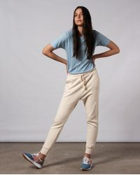 042e6be16f943 The Row Moto Cream Leather Leggings in Natural - Lyst