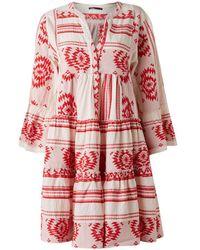um 50 Prozent reduziert neue Liste elegante Schuhe Rote Hingabe Aztek Ioli Stickerei Kleid