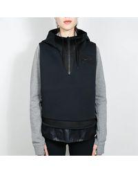 Nike Chaleco material mixto negro / negro
