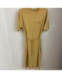 Minimum Philine Maxi T Shirt Dress Giallo senape - Verde