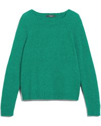 Weekend by Maxmara Amici Cotton & Alpaca Wool Sweater - Green