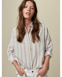 Sessun Darling Ma Stripe Shirt In Whiciel - Grey