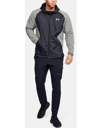 Under Armour Stretch Woven Full Zip Jacket Green Black - Gray