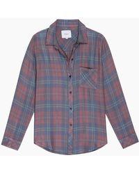 Rails Hunter Plaid Shirt Rose Blue Clover