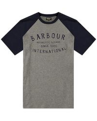 Barbour Camiseta raglán antracita Barbour Etch - Gris