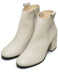 SELECTED Stivali Sana in pelle Sandshell - Neutro