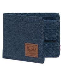 Herschel Supply Co. Indigo Crosshatch Roy Coin Wallet - Blau