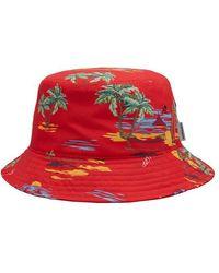 Carhartt Cappello da pescatore da spiaggia Etna Rosso