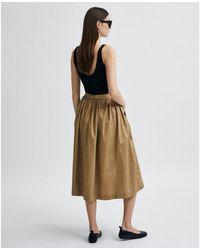 SELECTED Midi Camel Skirt - Brown