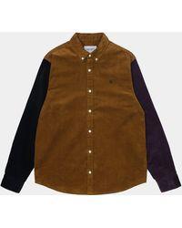 Carhartt Https://www.trouva.com/it/products/-wip-l-s-triple-madison-cord-shirt-tawny-black-dark-iris - Nero