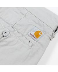 Carhartt Pantalones cortos de polvo de john - Gris