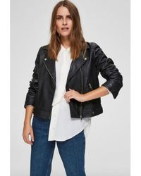 SELECTED Https://www.trouva.com/it/products/selected-femme-black-katie-leather-jacket-1 - Nero