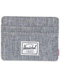 Herschel Supply Co. Cartera Charlie Raven Crosshatch Rfid - Gray