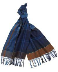 Barbour Inverness Mitternight Tartan Wollschal - Blau